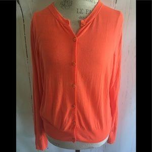 J.Crew Spring Orange Merino Wool Sweater